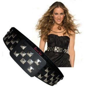 THE iconic Studded Black Carrie Belt!  XS
